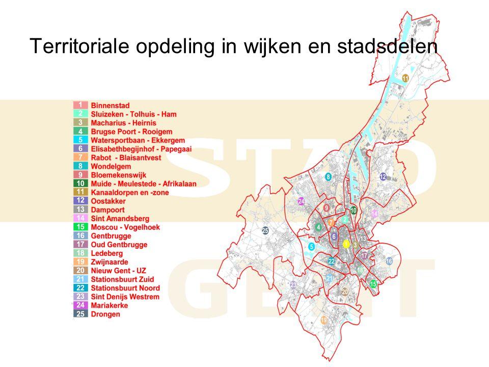 Territoriale opdeling in wijken en stadsdelen