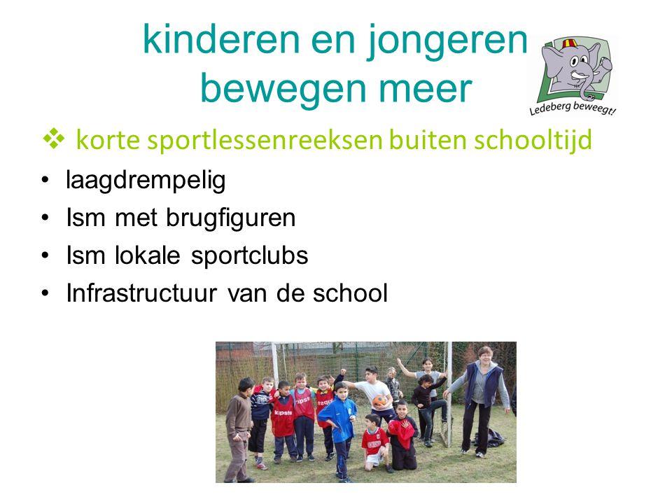 kinderen en jongeren bewegen meer