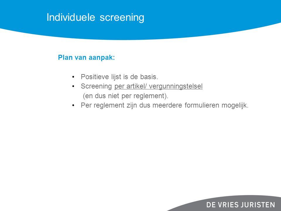 Individuele screening