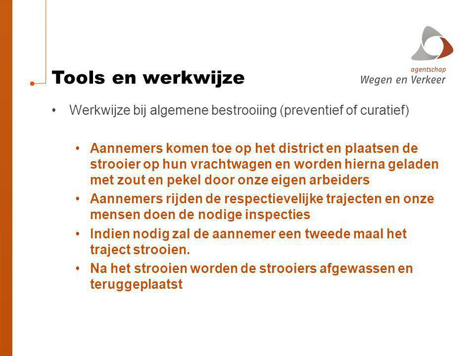 Tools en werkwijze Werkwijze bij algemene bestrooiing (preventief of curatief)