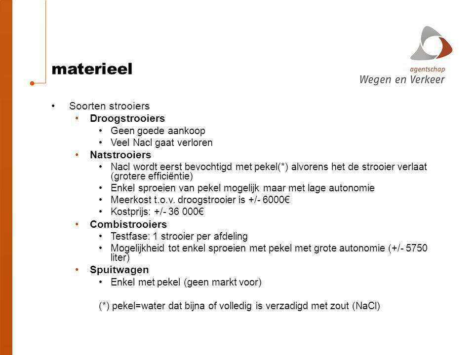materieel Soorten strooiers Droogstrooiers Natstrooiers Combistrooiers
