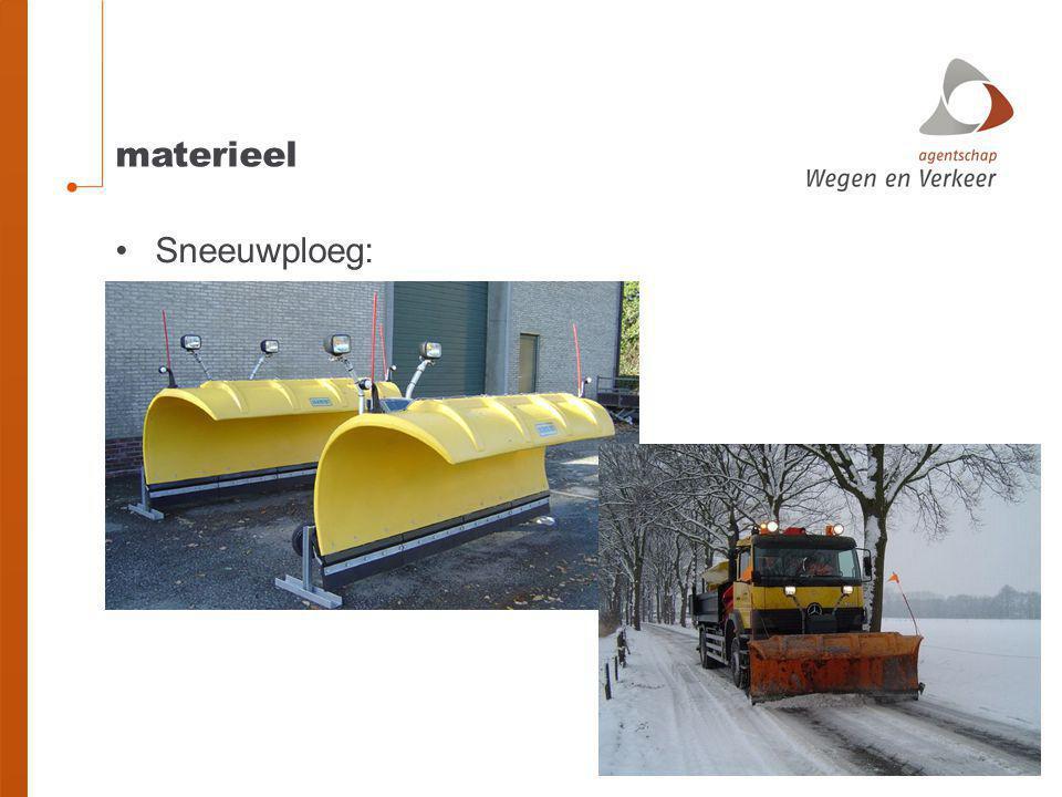 materieel Sneeuwploeg: