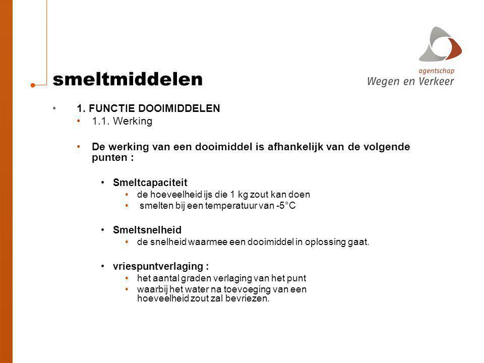 smeltmiddelen 1. FUNCTIE DOOIMIDDELEN 1.1. Werking