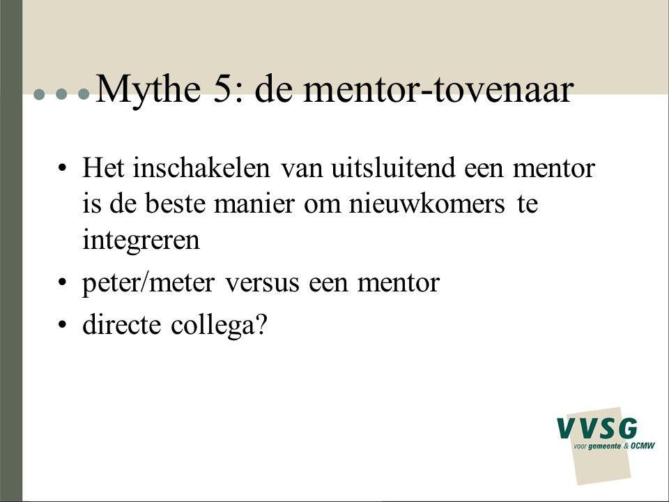 Mythe 5: de mentor-tovenaar