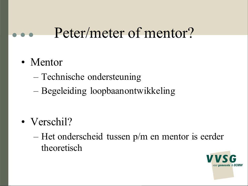 Peter/meter of mentor Mentor Verschil Technische ondersteuning