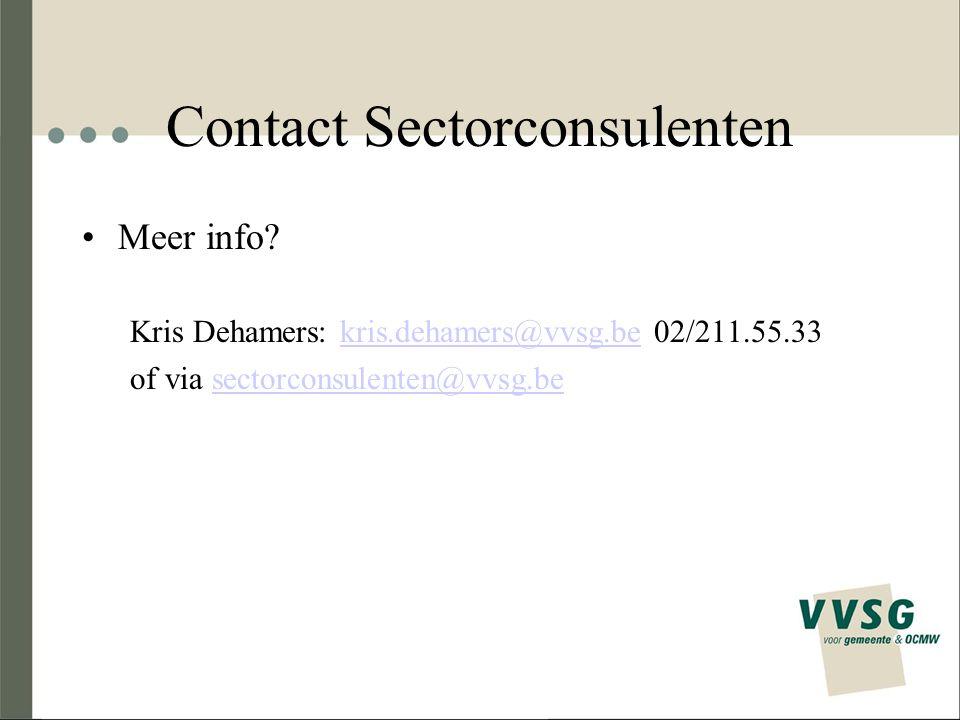 Contact Sectorconsulenten