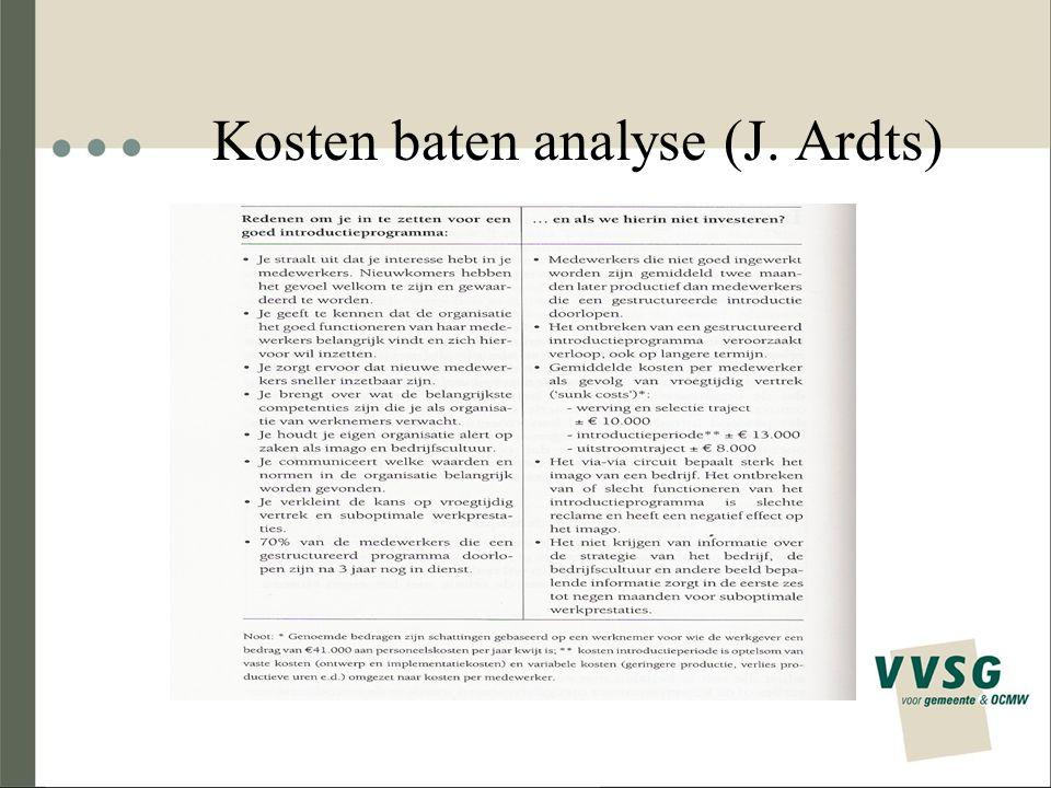 Kosten baten analyse (J. Ardts)