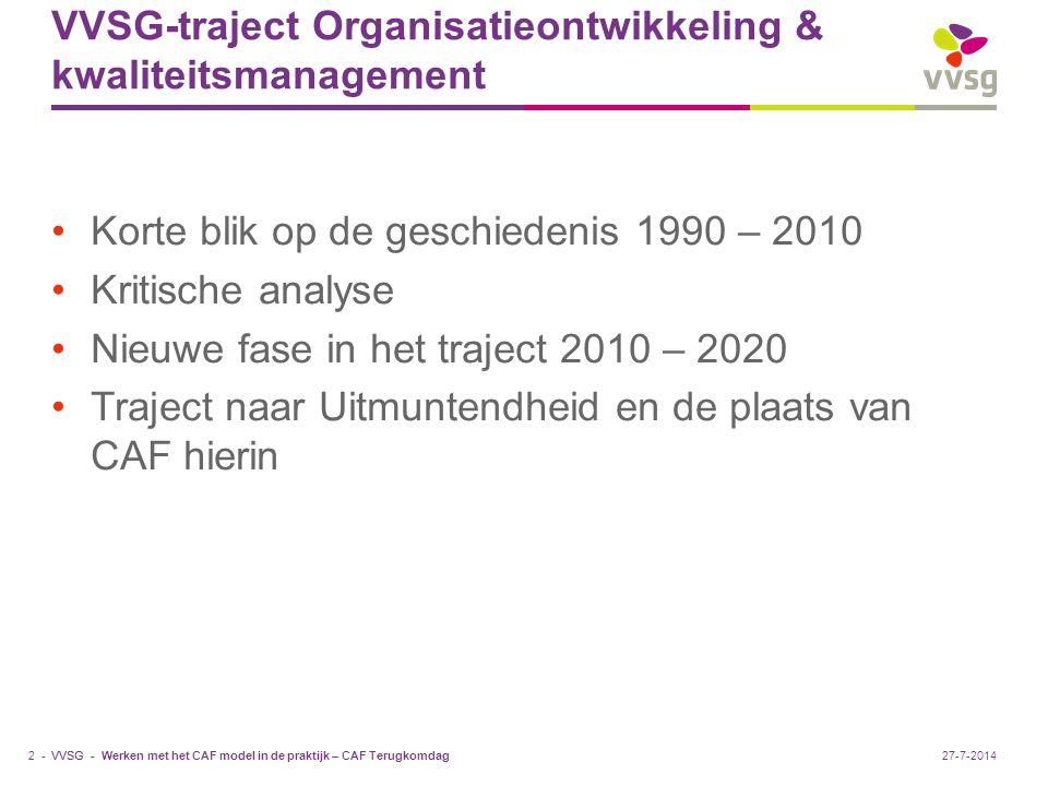 VVSG-traject Organisatieontwikkeling & kwaliteitsmanagement