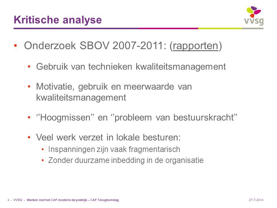 Onderzoek SBOV 2007-2011: (rapporten)