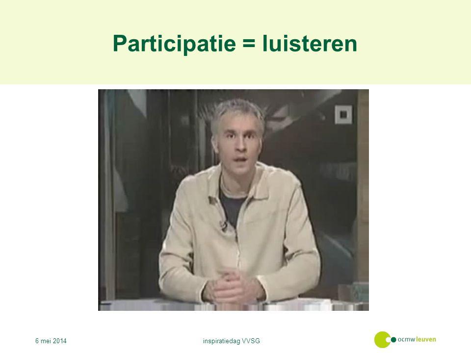 Participatie = luisteren