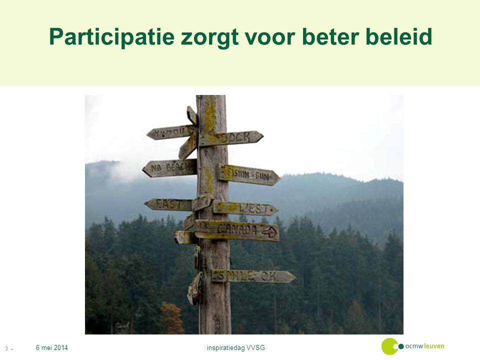 Participatie zorgt voor beter beleid