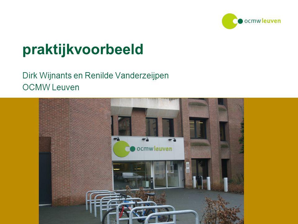 Dirk Wijnants en Renilde Vanderzeijpen OCMW Leuven