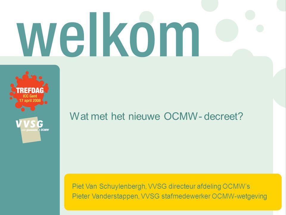 Wat met het nieuwe OCMW- decreet