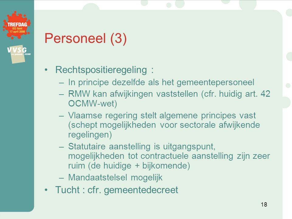 Personeel (3) Rechtspositieregeling : Tucht : cfr. gemeentedecreet