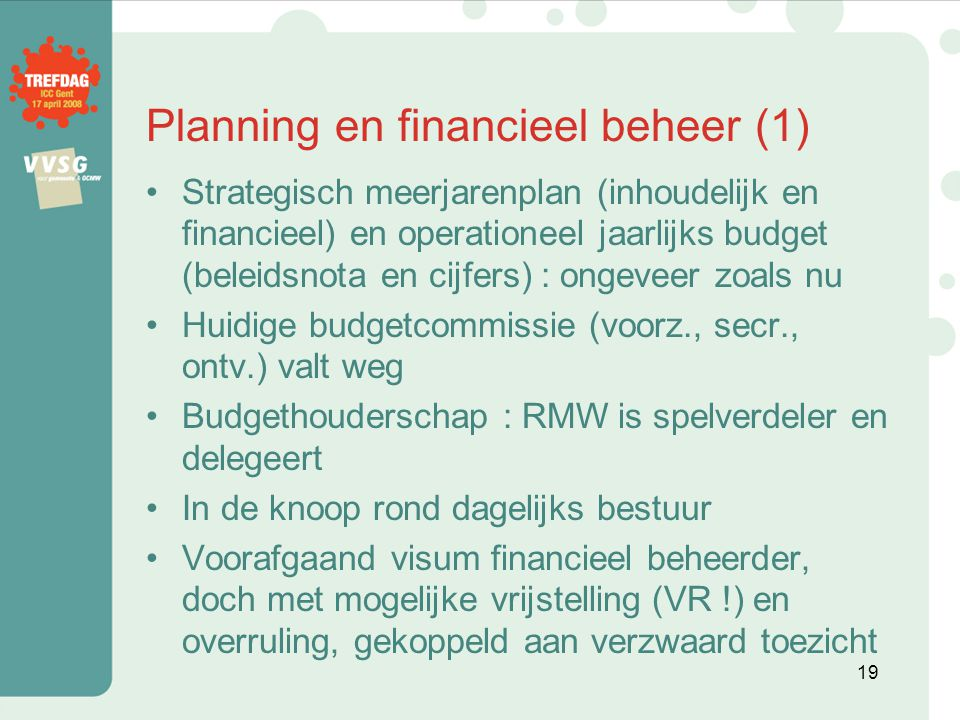 Planning en financieel beheer (1)