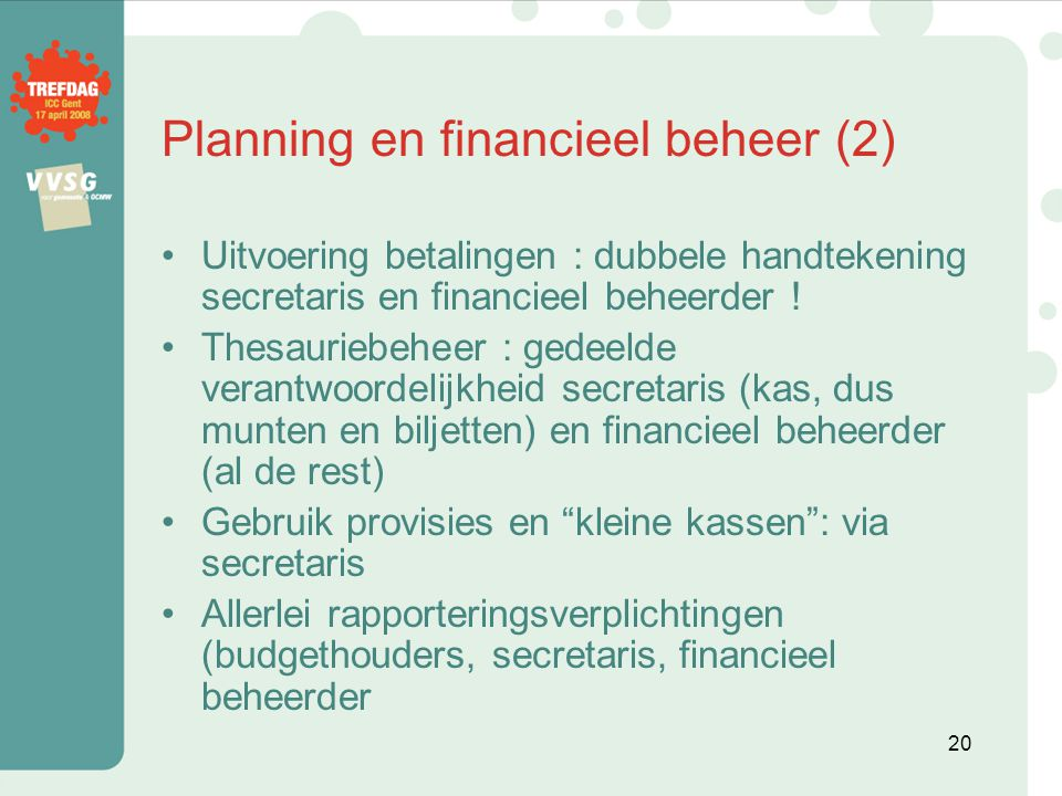 Planning en financieel beheer (2)