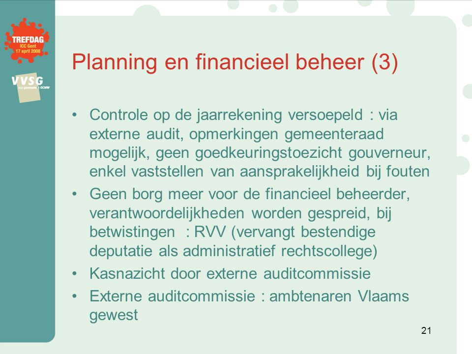 Planning en financieel beheer (3)
