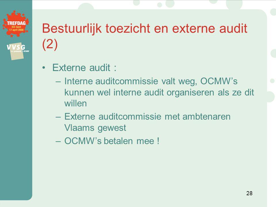 Bestuurlijk toezicht en externe audit (2)