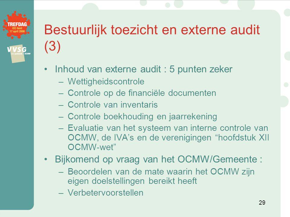 Bestuurlijk toezicht en externe audit (3)