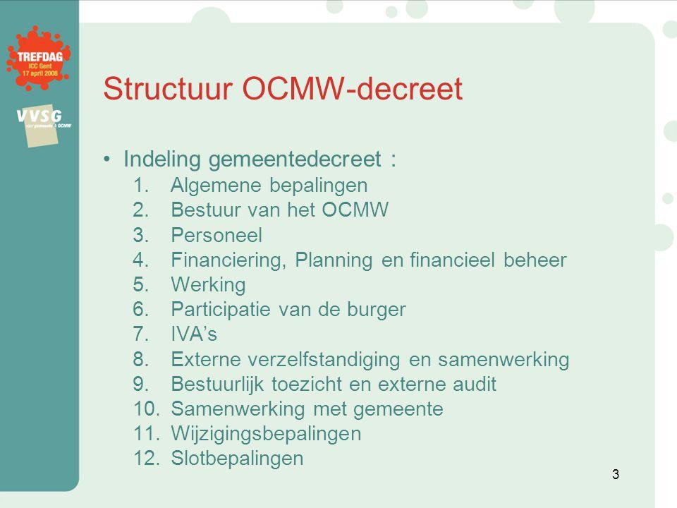 Structuur OCMW-decreet