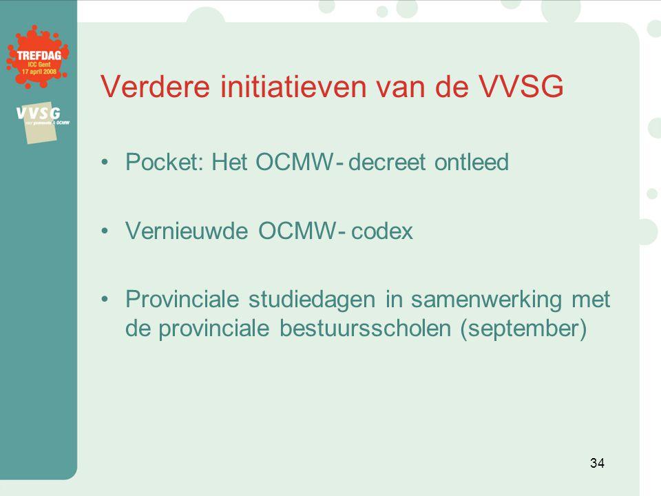 Verdere initiatieven van de VVSG