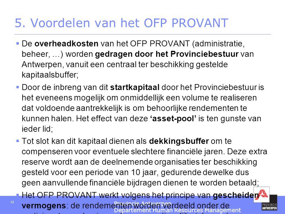 5. Voordelen van het OFP PROVANT