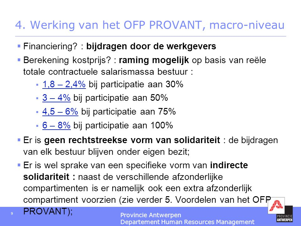 4. Werking van het OFP PROVANT, macro-niveau