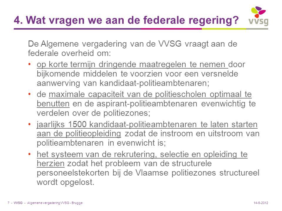4. Wat vragen we aan de federale regering
