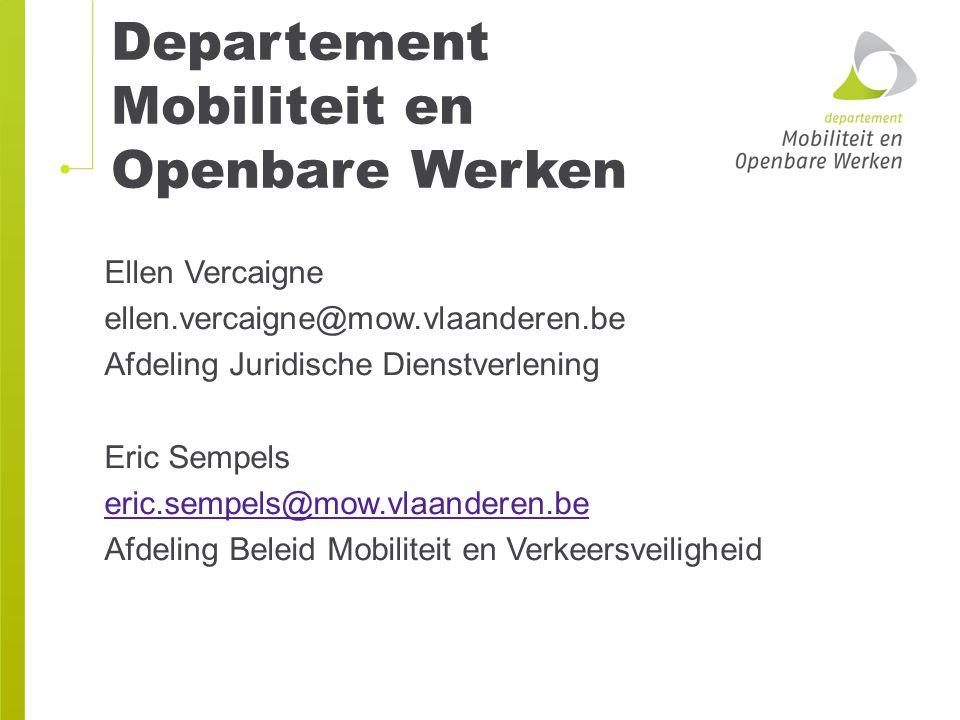 Departement Mobiliteit en Openbare Werken