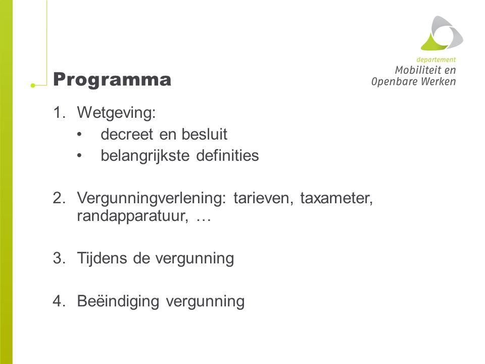 Programma Wetgeving: decreet en besluit belangrijkste definities