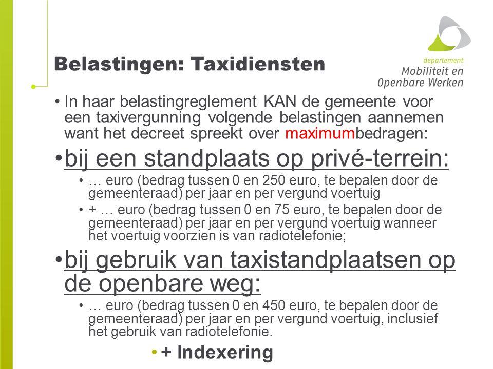 Belastingen: Taxidiensten