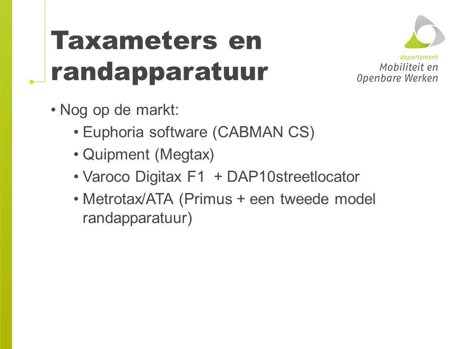 Taxameters en randapparatuur