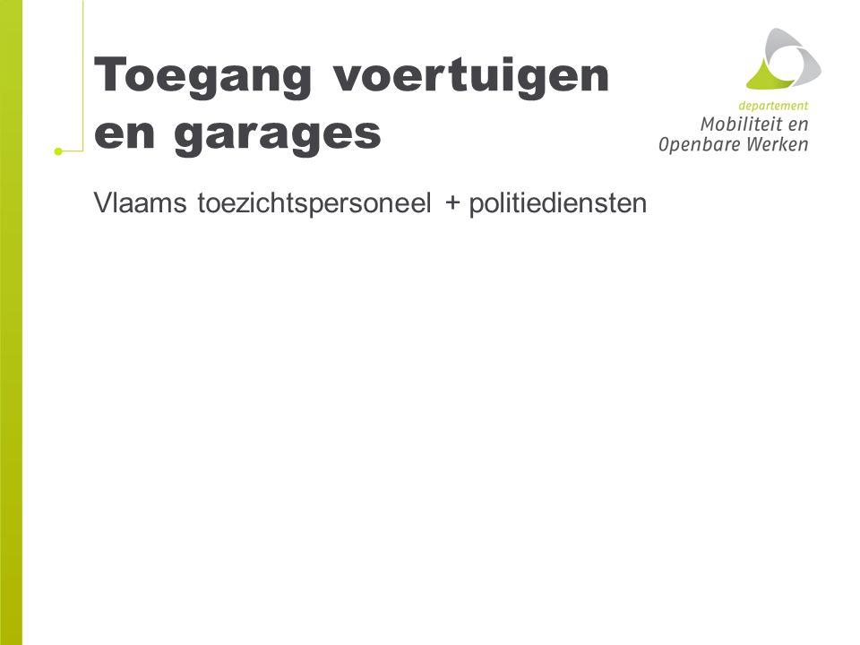 Toegang voertuigen en garages