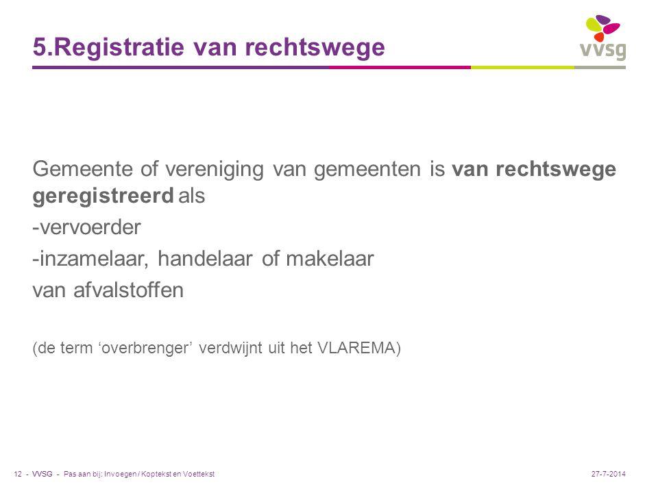 5.Registratie van rechtswege