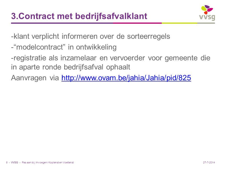 3.Contract met bedrijfsafvalklant