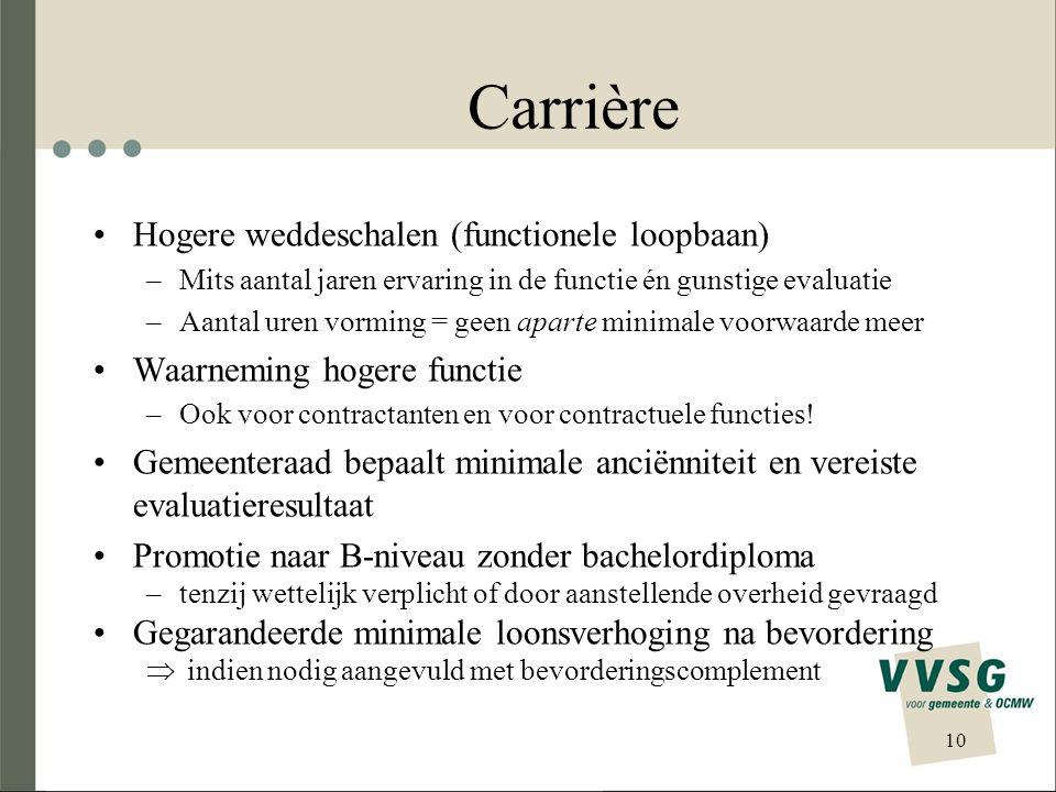 Carrière Hogere weddeschalen (functionele loopbaan)