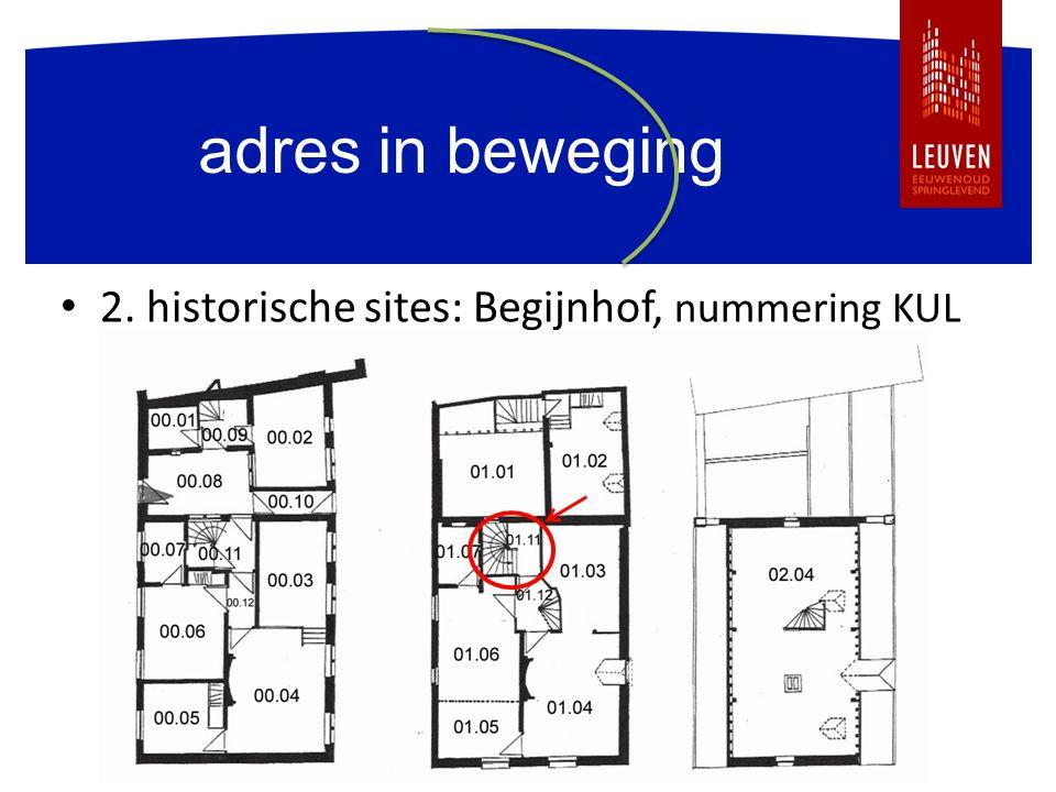 adres in beweging 2. historische sites: Begijnhof, nummering KUL