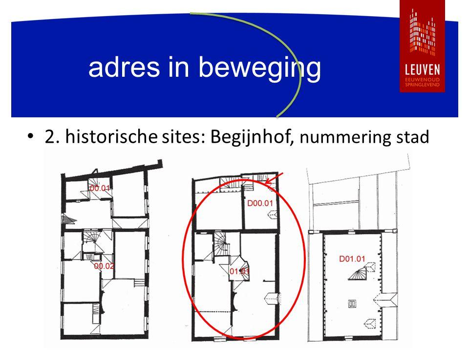 adres in beweging 2. historische sites: Begijnhof, nummering stad