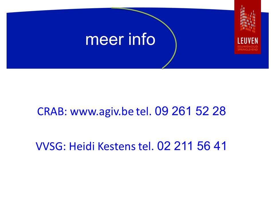 VVSG: Heidi Kestens tel. 02 211 56 41