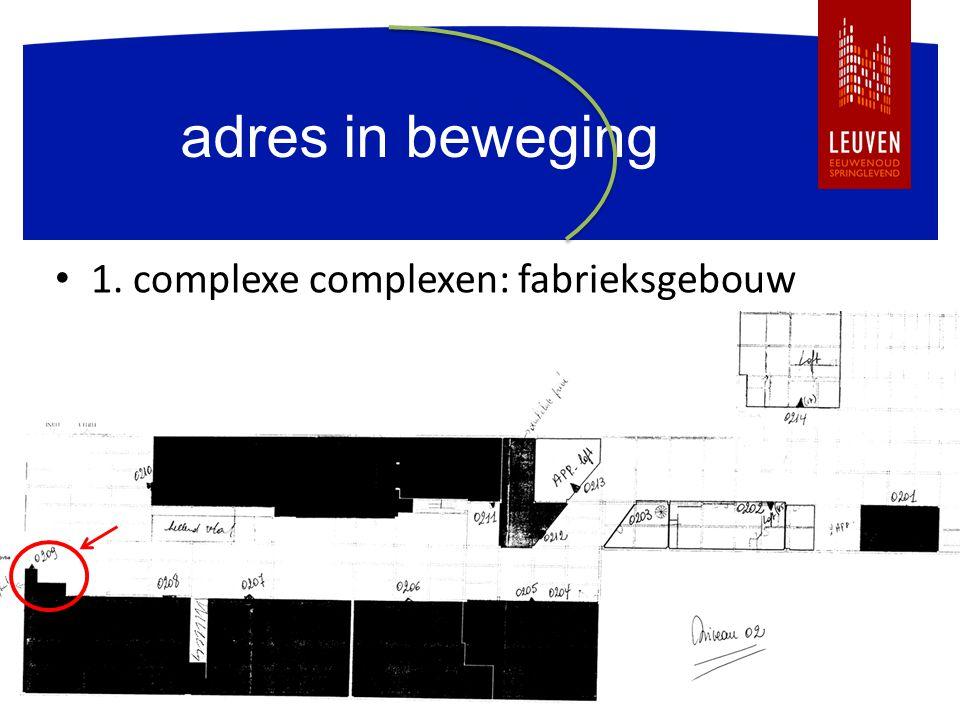 adres in beweging 1. complexe complexen: fabrieksgebouw plan