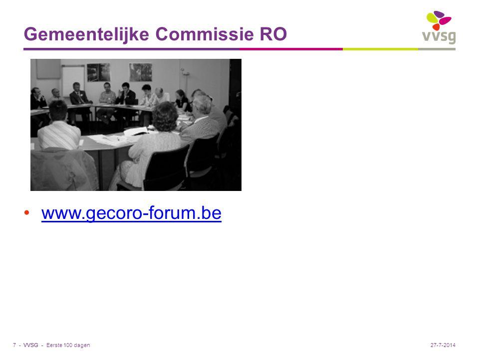 Gemeentelijke Commissie RO