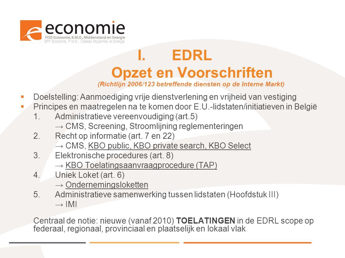 I. EDRL Opzet en Voorschriften