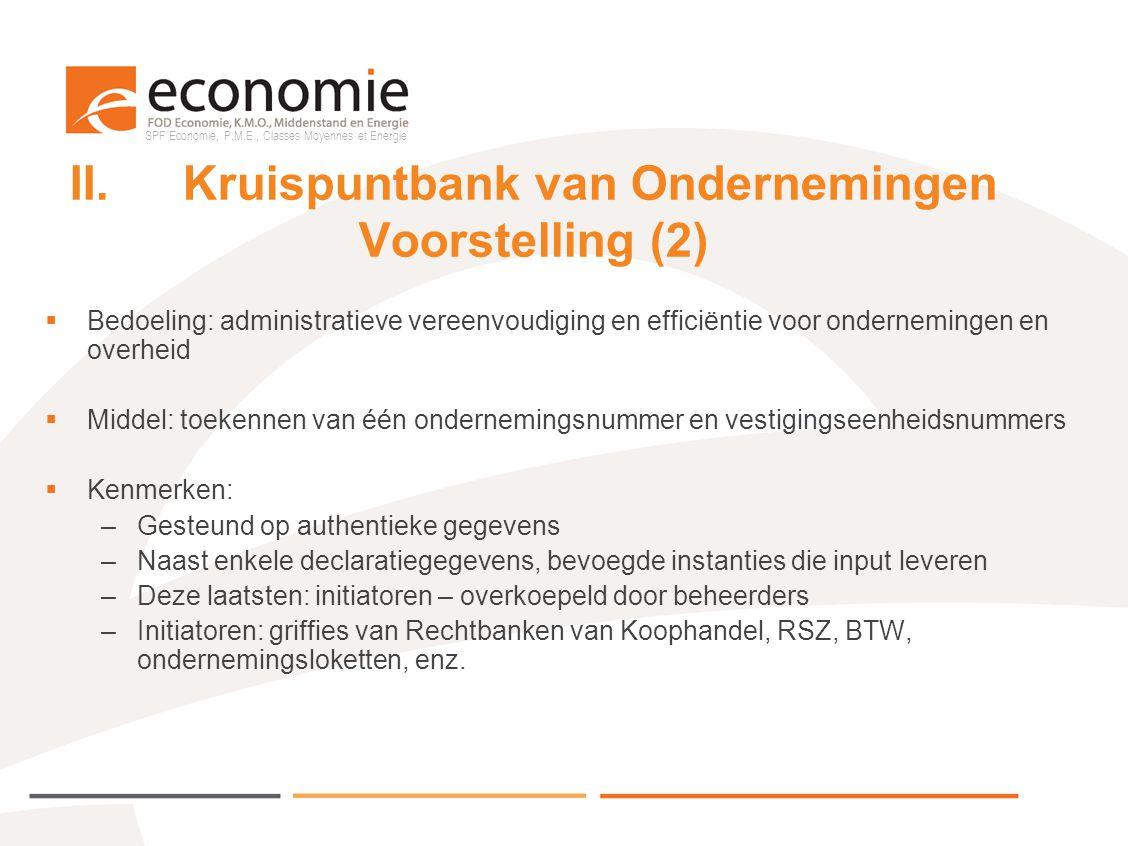 II. Kruispuntbank van Ondernemingen Voorstelling (2)