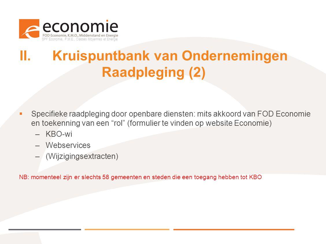 II. Kruispuntbank van Ondernemingen Raadpleging (2)
