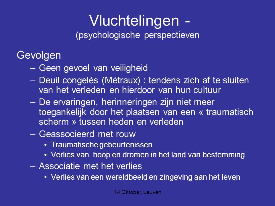 Vluchtelingen - (psychologische perspectieven