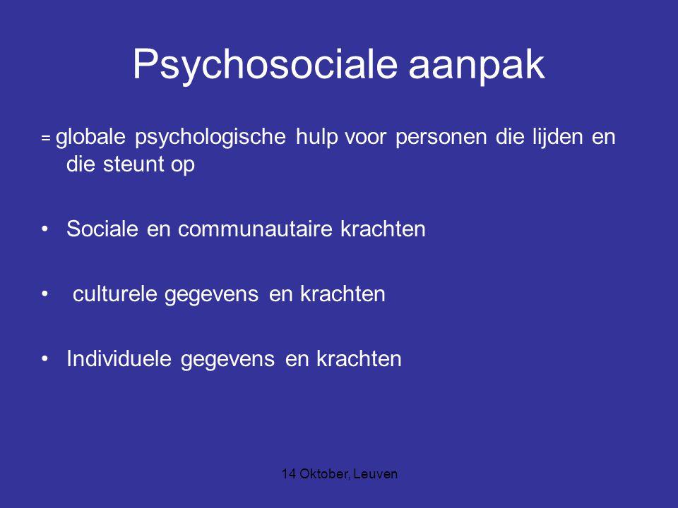 Psychosociale aanpak Sociale en communautaire krachten