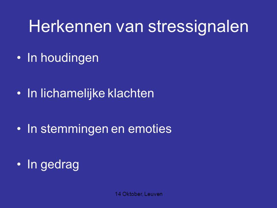 Herkennen van stressignalen