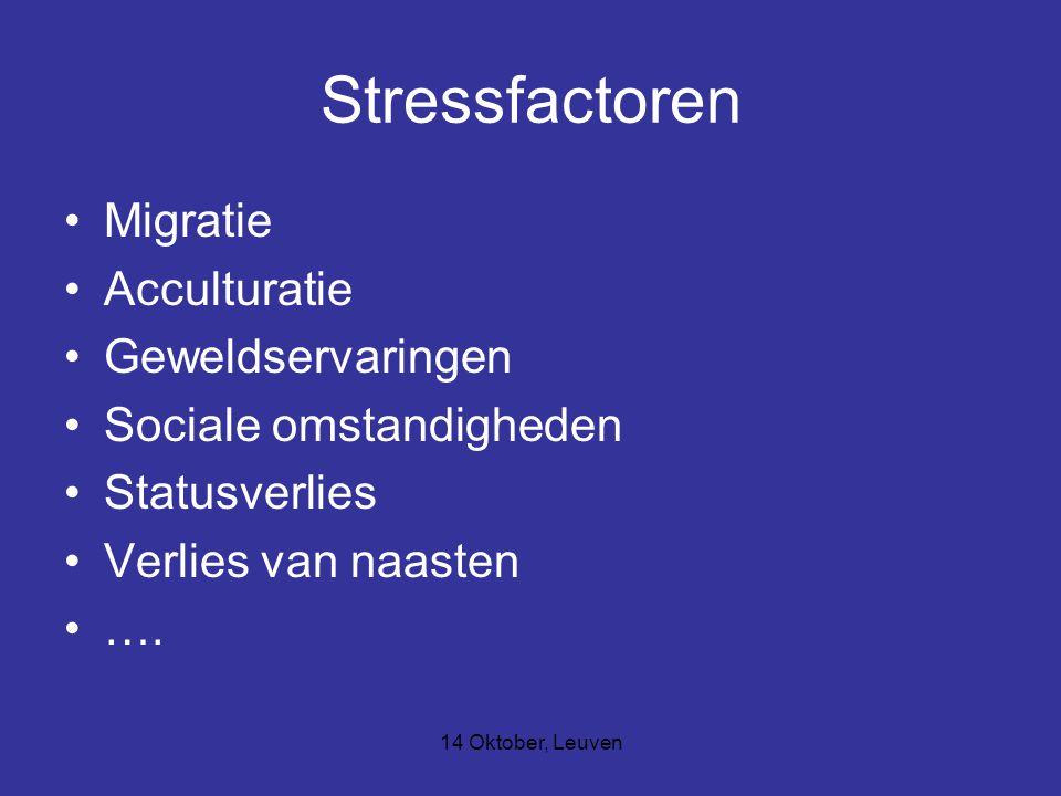 Stressfactoren Migratie Acculturatie Geweldservaringen