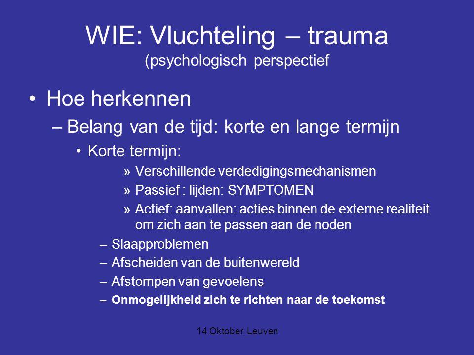 WIE: Vluchteling – trauma (psychologisch perspectief
