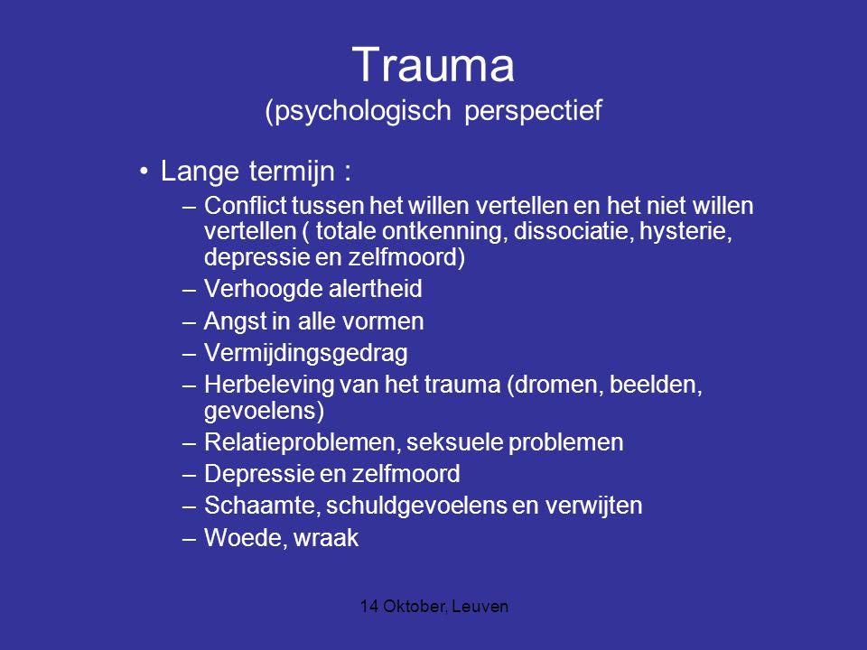 Trauma (psychologisch perspectief